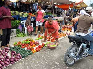 Haitian Market vegetables