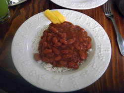 Dominican Habichuelas and White Rice